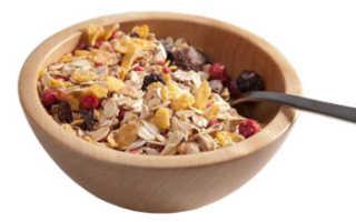 Польза мюсли на завтрак