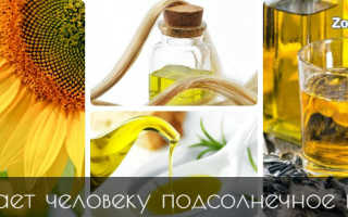 Масло подсолнечное полезные свойства