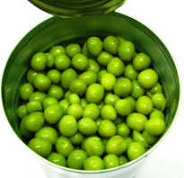 Полезные свойства консервированного зеленого горошка