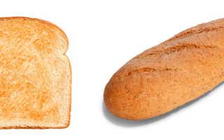 Хлеб или тосты что полезнее