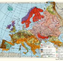 Карта полезных ископаемых европы