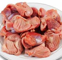 Полезные свойства куриных желудков