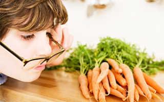 Морковка для глаз полезна