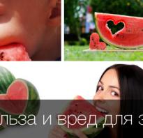 Полезные свойства арбуза для организма человека