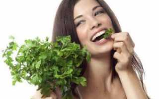Полезные свойства петрушки для женщин
