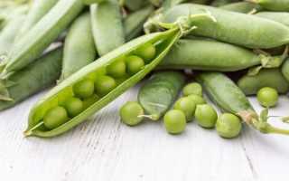 Свежий зеленый горошек польза